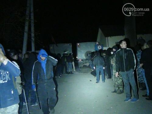штурм военной базы в Мариуполе