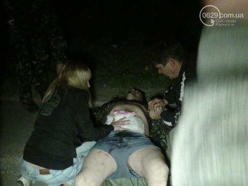 раненые в центре Мариуполя
