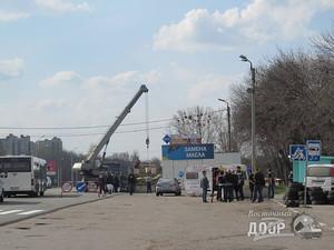 фото строительства блок-поста в Харькове
