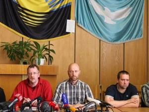 Захваченная миссия ОБСЕ в Славянске