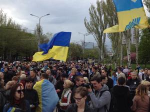 Студентов захватили во время проукраинского митинга