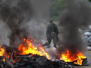 Вблизи Славянска идут бои. Сепаратисты заявляют о десяти убитых