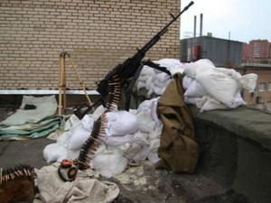 славянск террористы с крыши жилого дома