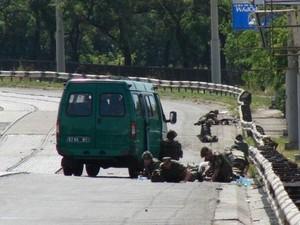 В Мариуполе обстрелян автомобиль пограничников