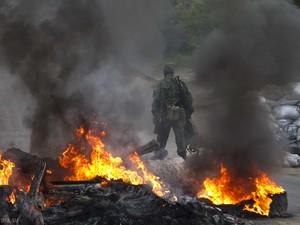 """""""На данный момент информации об обстреле нет"""", - говорит пресс-офицер АТО Алексей Дмитрашковский."""