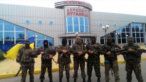 Львовские десантники обратились к журналистам из луганского аэропорта