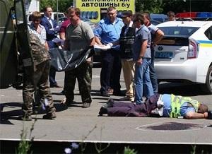 Как произошел расстрел сотрудников ГАИ в Донецке: видео