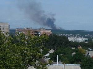 Луганск: силы АТО бомбят террористов. Боевики стреляют из минометов