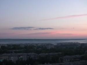 Красоту утра и низин в тумане нарушила канонада.