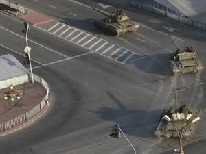 В Луганске  была замечена новая колонна военной техники