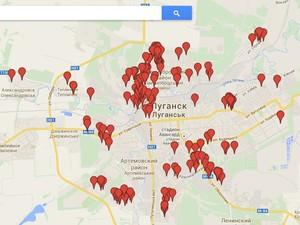 Какие районы Луганска обстреливают: карта