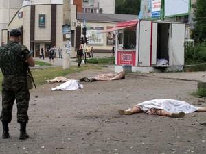 44 человека погибло в результате вчерашнего артобстрела Луганска