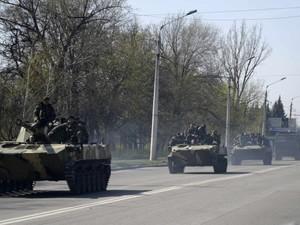 По Донецку движется колонна военной техники ДНР