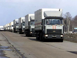 Российский «гуманитарный конвой» уже на украинской границе