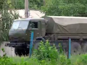Новая колонна российской техники на Луганщине