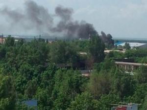 Донецк 7 октября: в городе стреляют, горят дома