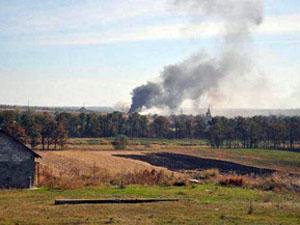 Дым над поселком Талаковка