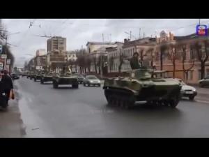 Колонну засняли жители Белгорода