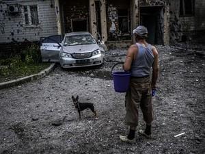 Утром в Донецке тихо