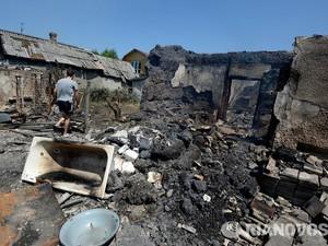 Несколько зданий разрушено