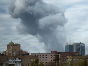 Пострадало здание коммунального предприятия «Донецкгорводоканал»