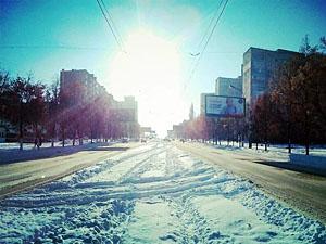 Зимний Луганск.