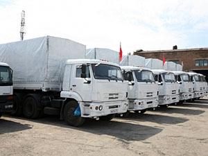Грузовики десятого «гуманитарного конвоя» из России уже прибыли в Луганск