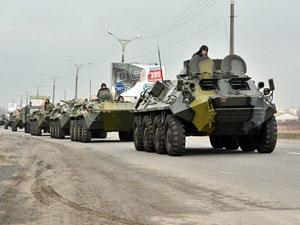 Военная техника прибыла в город со стороны Краснодона.