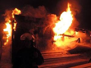 По состоянию на 5 утра пожар удалось ликвидировать.