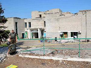 Все жители покинули Широкино, более 80% зданий полностью разрушено.