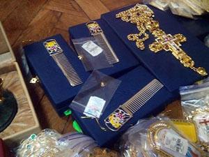 Общая стоимость ювелирных изделий достигает пол миллиона долларов.